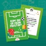 Uitnodiging voetbalfeest, set van 10 stuks