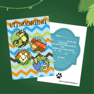 kinderfeestje jungle uitnodigingen