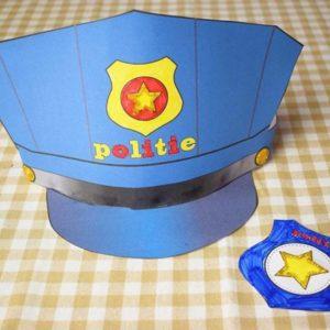 Knutselpakket badge en politiehoed