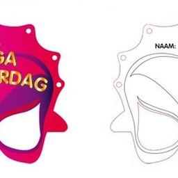 MegaMindy maskers met kleurpotloden