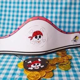 Knutselpakket ooglapje en piratenhoed