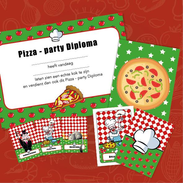 speurtocht pizza kinderfeestje