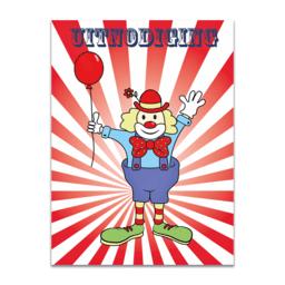 Uitnodiging circusfeest, set van 10 stuks