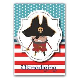 Uitnodiging piratenfeest, 10 stuks