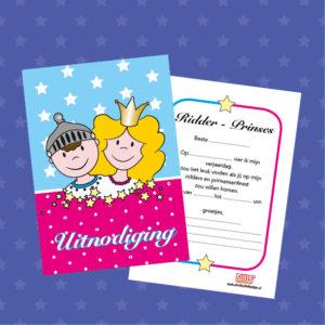 uitnodigingen voor een ridders en prinsessen kinderfeestje