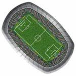 2 Borden Voetbalstadion groot