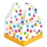 Traktatiedoosje confetti kinderfeest, 6 stuks