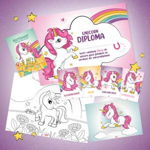 Unicorn speurtocht, pakket voor 10 kinderen