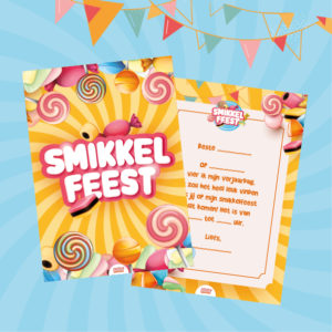 uitnodigingen smikkel kinderfeestje