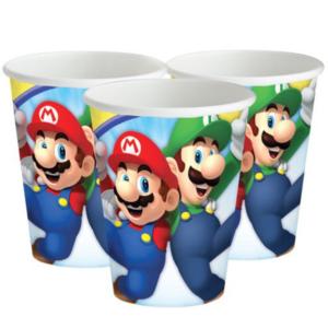 Bekers super Mario 8 stuks