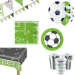 Voetbal feestje  groen decoratie pakket